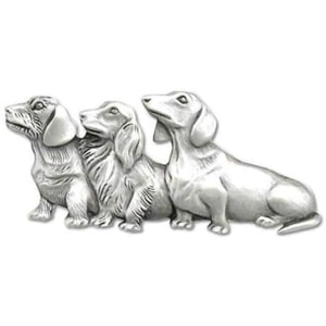 Multi Dachshund Pin