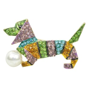 Jewel Dachshund Pin