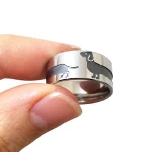 Silver Dachshund Ring