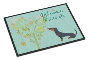 Welcome Friends Dachshund Doormat