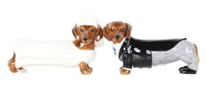 Bride and Groom Doxies Salt and Pepper