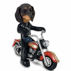 Dachshund Black Motorcycle